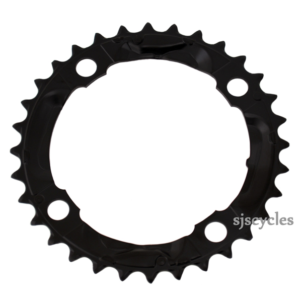 Shimano Deore FC-M590 104mm BCD 4 Arm Middle Chainring - Black - 32T