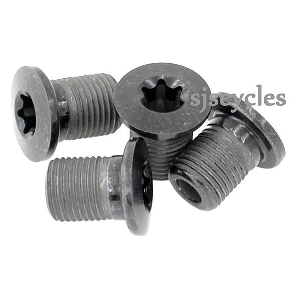 Black Y1H598160 M8x10.1 Shimano FC-M970 M980 XTR Gear Fixing Chainring Bolts