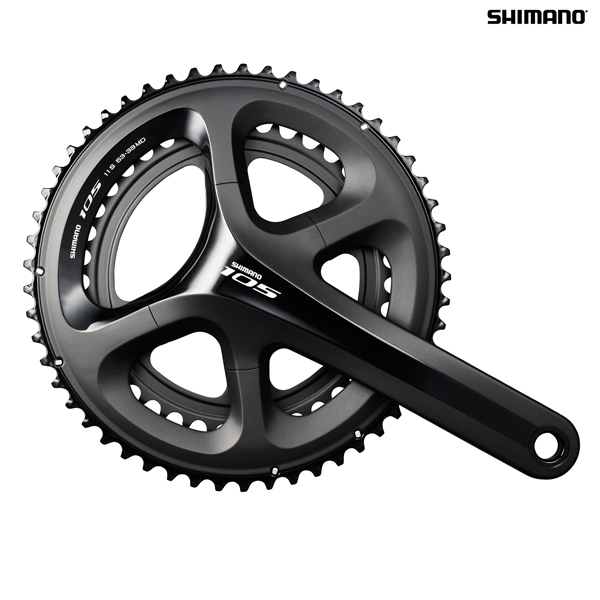 62a19a16edd Shimano 105 FC-5800 11 Speed Double Chainset - Black - 52/36T -