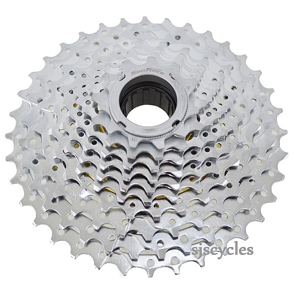 Cassettes, Freewheels & Cogs Sunrace 10-speed 11-36t Fast Color