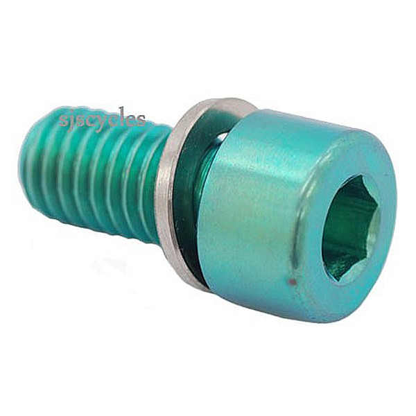 Ti Parts Workshop Handlebar Catch Titanium Bolt M8 x 16 mm - Green