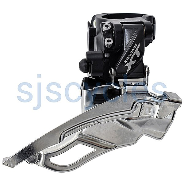 Shimano Deore XT FD-T8000-H 10 Speed Triple Front Derailleur - Conventional  Swing - 63-66 Deg