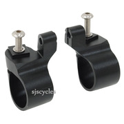 Jtek Special Thumb Shifter Brackets for 22.2 mm Bars - Black