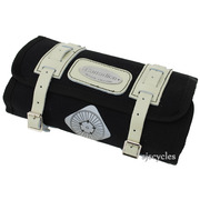 Carradice Cape Roll Bag - Black with White Straps