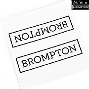 Brompton Main Frame Decal - Black