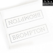 Brompton Main Frame Decal - Silver