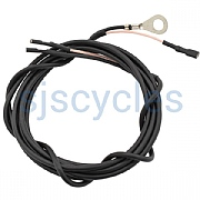 SON Coaxial Cable for Tail Light 190 cm Long Plugs Fitted - Black