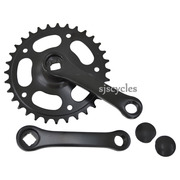 "Steel Single Chainring Chainset 32T 3/32"" - 102 mm Cranks"