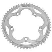 Shimano 105 FC-5700 130mm BCD 5 Arm Outer Chainring - B Type - Silver - 53T