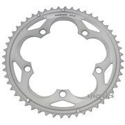 Shimano 105 FC-5700 130mm BCD 5 Arm Outer Chainring - B Type - Silver - 52T