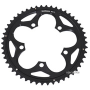 Shimano 105 FC-5750 110mm BCD 5 Arm Outer Chainring - F Type - Black - 50T