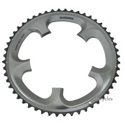 Shimano Ultegra FC-6700 130mm BCD 5 Arm Outer Chainring - B Type - Silver - 52T