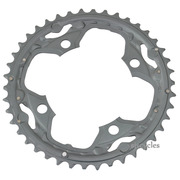 Shimano Deore FC-M590-10 104mm BCD 4 Arm Outer Chainring - AE Type - Grey - 42T