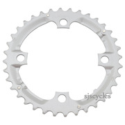 Shimano Alivio FC-M431-8 104mm BCD 4 Arm Middle Chainring - Silver - 36T