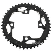 Shimano Deore LX FC-T671 104mm BCD 4 Arm Outer Chainring - Black - 44T-AE - For Chainguard