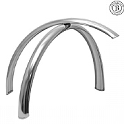 "Gilles Berthoud 26"" Stainless Steel Mudguards - Long"