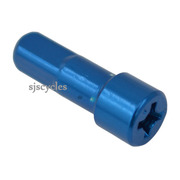Shimano WH-RS10-A-L Front/Rear Nipple - Blue - Y012Z4077