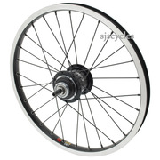 SJSC for Brompton Sturmey Archer 3 Speed Rear Wheel 16 x 1 3/8  - Black