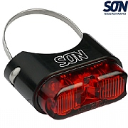 SON Rear Light - Seatpost Mount - Black / Red