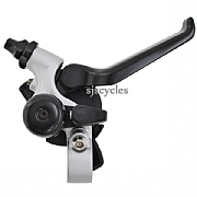 Brompton Hub Gear Shifter with Integrated Brake Lever - RHS - 3 Speed - Silver / Black