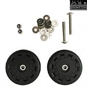 Brompton Eazy Wheel Rollers with Fittings - 5 mm Holes - Pair