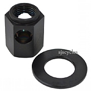 Ti Parts Workshop Chain Tensioner Titanium Nut - Black