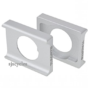 Ti Parts Workshop Saddle Clamp for Carbon Rail Saddles on Brompton Bikes - 8-9 mm - Silver