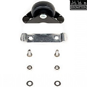 Brompton Mudguard Roller Assembly & Screws - L Version - Black