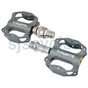 Ti Parts Workshop Mini Pedals - Single Sided QR - Titanium