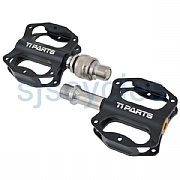 Ti Parts Workshop Mini Pedals - Single Sided QR - Black