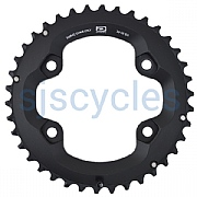Shimano Deore FC-M6000-2 96mm BCD 4 Arm Outer Chainring - 38T-BG