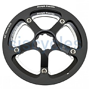 Joseph Kuosac Chainring with Guard & Spider for Bromptons - Black