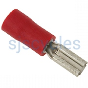 Wurth Cable Connector Red Insulated 2.8mm x 0.5mm Female x 1 - Fits B+M Dynamos & Lights