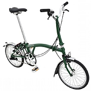 Brompton M3L Folding Bike - Racing Green