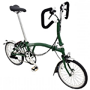 Brompton P6L Folding Bike - Racing Green