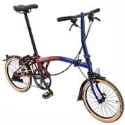 Brompton S2L 9 Streets Edition Folding Bike - Blue / Red Lacquer