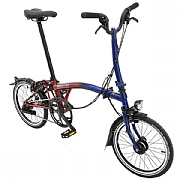 Brompton M2L 9 Streets Edition Folding Bike - Blue / Red Lacquer