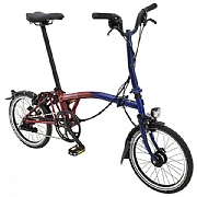 Brompton M6L 9 Streets Edition Folding Bike - Blue / Red Lacquer