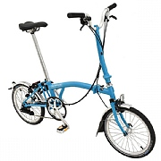 Brompton H6L Folding Bike - Lagoon Blue