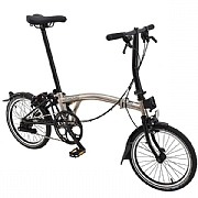 Brompton S2L Nickel Edition Folding Bike - Nickel / Gloss Black