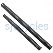 Ti Parts Workshop Titanium Telescopic Seat Pillar for Bromptons - Black - Up to 680 x 31.8 mm