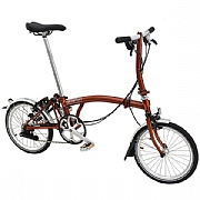 Brompton S6L Folding Bike - Flame Lacquer