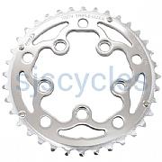TA 74 BCD Inner Triple Road Bike 8,8,10 Speed Chainring 28T In Silver